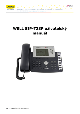 Český SIP-T28P uživatelský manuál_V41