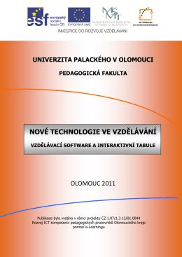 nové technologie ve vzdělávání - JTIE