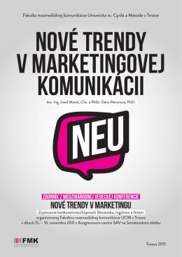 Nové trendy v marketingovej komunikácii