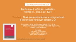 JUDr. Michaela Poremská, Ph.D., LLM – Evropské směrnice