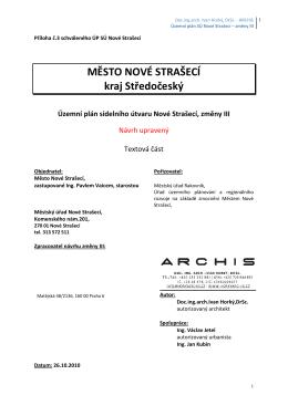 Územní plán SÚ Nové Strašecí – změny III