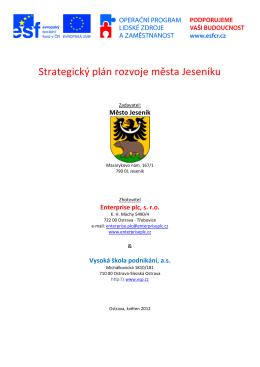 Strategický plán rozvoje města Jeseníku