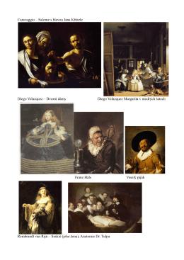 Salome s hlavou Jana Křtitele Diego Velazquez – Dvorní dámy