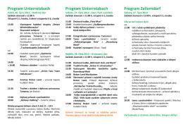 Program Unterretzbach Program Unterretzbach Program Zellerndorf