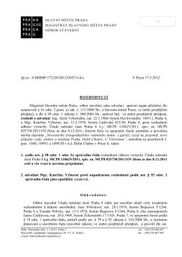 Sablona dokumentu MHMP - Městská část PRAHA DOLNÍ CHABRY