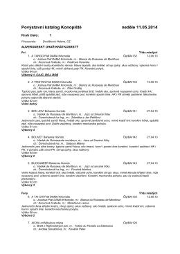 Povýstavní katalog Konopiště neděle 11.05.2014