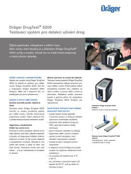 Dräger DrugTest® 5000 Testovací systém pro detekci užívání drog