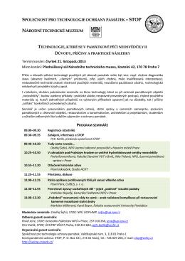 –STOP - Společnost pro technologie ochrany památek