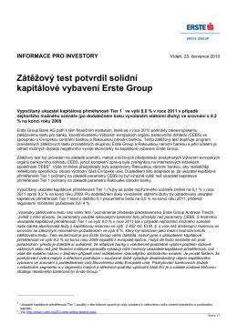 News Release - Erste Group