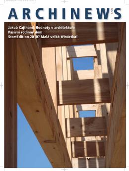 Jakub Cajthaml: Hodnoty v architektuře Pasivní rodinný dům