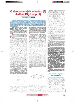 O vícepásmových anténách (8) Anténa Big Loop (1)