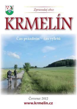 Zpravodaj obce Červenec 2012 www.krmelin.cz