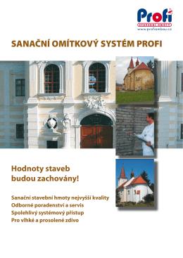 Katalog sanační omítkový systém PROFI