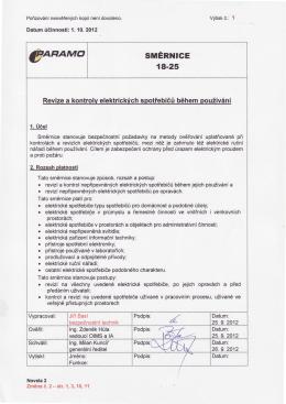 Revize a kontroly elektrických spotřebičů během používání