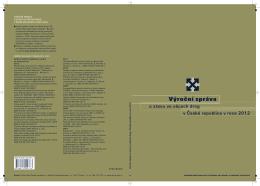 Výroční zpráva o stavu ve věcech drog v ČR v