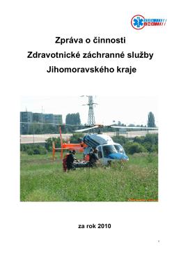 2010 - Zpráva o činnosti ZZS JmK