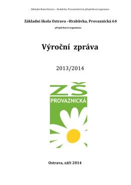 Výroční zpráva - ZŠ Provaznická