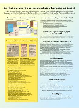 poster z konference - Ústav českého jazyka a teorie komunikace