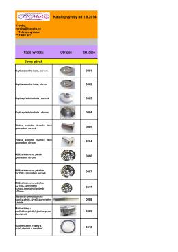 Katalog výroby od 1.9.2014 Jawa pérák