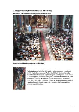 Příloha č. 1 - Z ludgeřovického chrámu sv. Mikuláše