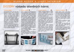 SYSTÉMY výstavby skleněných tvárnic