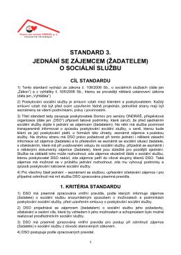 Standard DSO č. 3 - Domov pro seniory ONDRÁŠ, po Brušperk