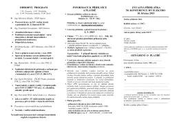 Pozvánka, odborný program ke stažení (PDF) - elektro