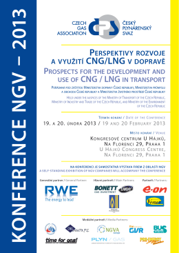 K O N FER EN C E N G V – 2013 - Ministerstvo dopravy, výstavby a