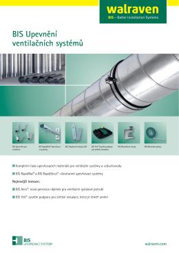 BIS Upevnění ventilačních systémů