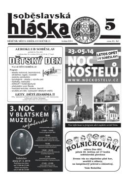 Květen 2014 - Město Soběslav