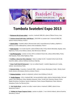 Tombola Svatební Expo 2013