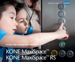 KONE MaxiSpace™ KONE MaxiSpace™ RS