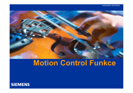 Motion Control Funkce