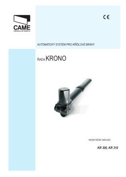 montážní manuál KRONO