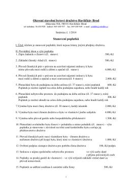 Směrnice č. 1/2014 - OSBD Havlíčkův Brod