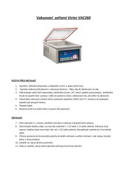 Vakuovací zařízení Victor VAC260