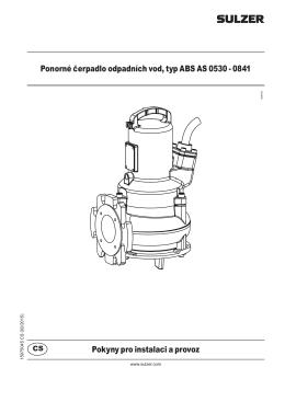 Ponorné čerpadlo odpadních vod, typ ABS AS 0530 - 0841