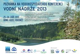 Vodní nádrže 2013 - Konference VODNÍ NÁDRŽE 2015