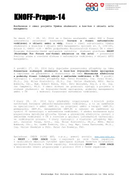 KNOFF Agora - Prague14 - (pdf.CZ) - CPA