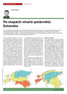 Po stopách vinařů-polárníků: Estonsko