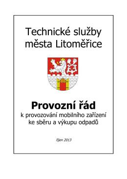mobilního - Technické služby města Litoměřice, příspěvková
