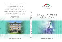 LABORATORNÍ PŘÍRUČKA - Mediekos Labor, s.r.o.