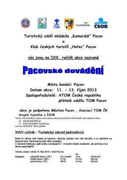 """Turistický oddíl mládeže """"Kamarádi"""" Pacov"""