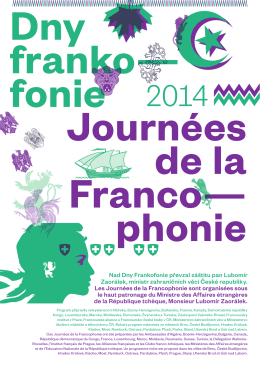 Program ke stažení v PDF - La France en République tchèque
