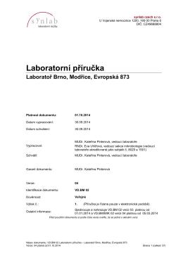 Laboratoř Brno, Evropská