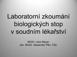 Laboratorní metody v soudním lékařství