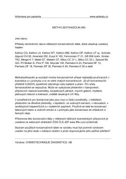 Informace pro pacienta www.epitesty.cz METHYLISOTHIAZOLIN (MI