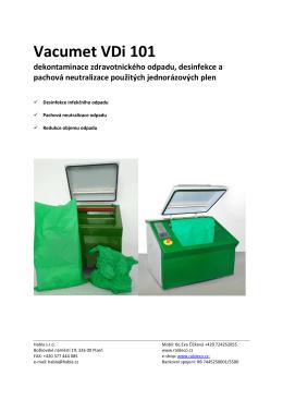 Vacumet VDi 101 dekontaminace zdravotnického odpadu