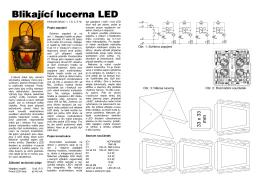 Blikající l Blikající lucerna LED cerna LED cerna LED