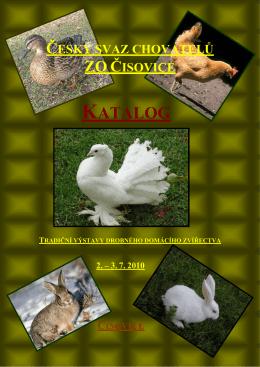 Katalog 2010.pdf - ZO ČSCH Čisovice
